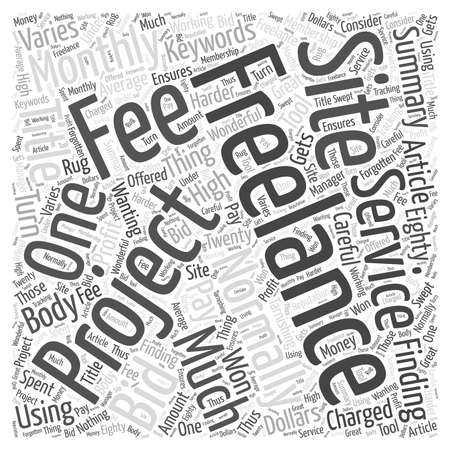 freelancing: Finding Freelance Projects Word Cloud Concept