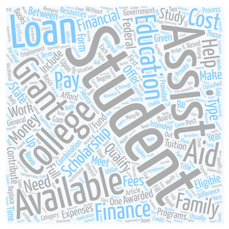Financial Aid is Available to Students text background wordcloud concept Ilustrace
