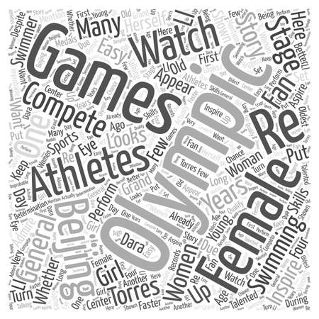 Female Athletes to Watch in the Beijing Olympics Word Cloud Concept