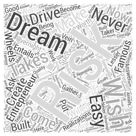 famous entrepreneurs ll Word Cloud Concept Vektoros illusztráció