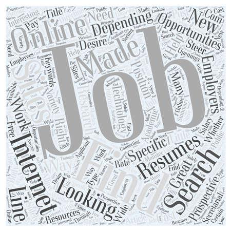 depending: Finding Jobs Online Word Cloud Concept