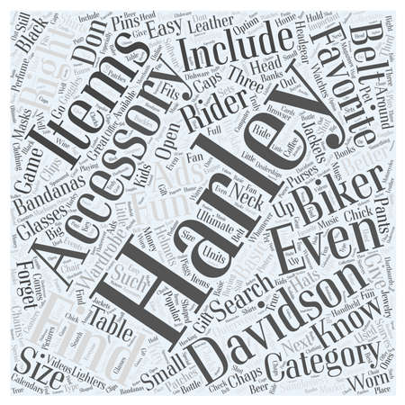 Finding The Right Harley Accessory Word Cloud Concept Illustration