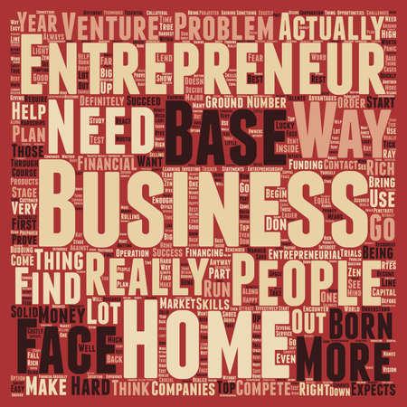 Unternehmer home based business 1 Text Hintergrund Konzept Wordcloud