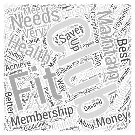 fitness club Word Cloud Concept