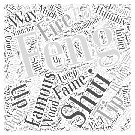 humility: Fame from Feng Shui Word Cloud Concept