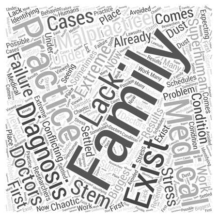 Family Practices and Medical Malpractice Word Cloud Concept