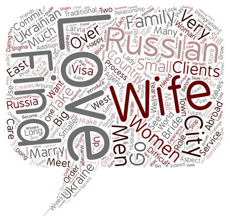 marrying: Find a Russian Wife Ukrainian Wife Russian Bride or Ukrainian Bride text background wordcloud concept