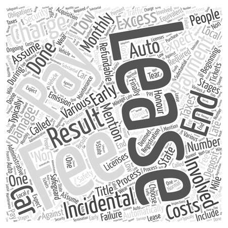 Fees involved in leasing Word Cloud Concept