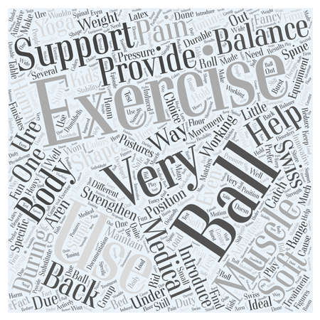Exercise Balls Word Cloud Concept