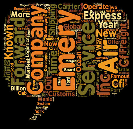 express air freight text background wordcloud concept
