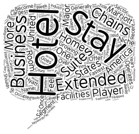 reportedly: Extended Stay Hotels Shouldn t You Feel At Home text background wordcloud concept