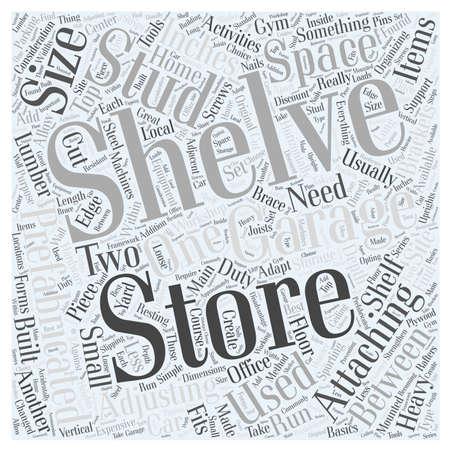 garage opslag rekken Word Cloud Concept Stock Illustratie
