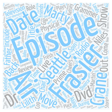 Frasier DVD Review text background wordcloud concept
