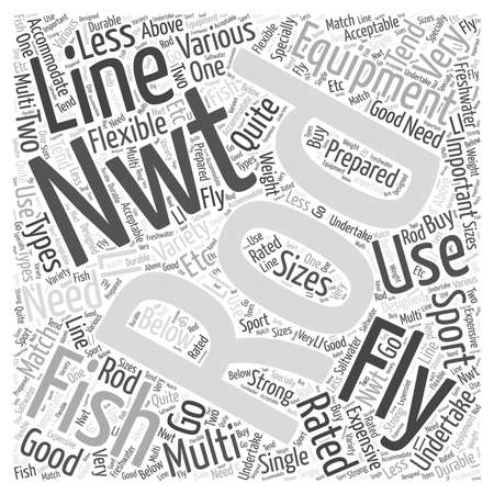 undertake: Fly Fishing Equipment Word Cloud Concept Illustration