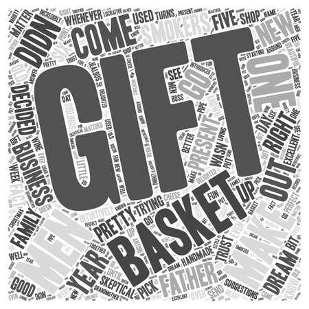 business skeptical: gift baskets for men Word Cloud Concept
