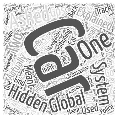 explained: global positioning system Word Cloud Concept Illustration