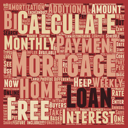 Five Ways To Benefit From Free Mortgage Loan Calculators text background wordcloud concept