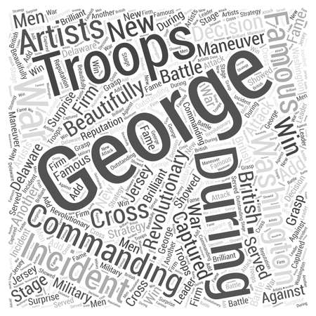 George Washington Word Cloud Concept
