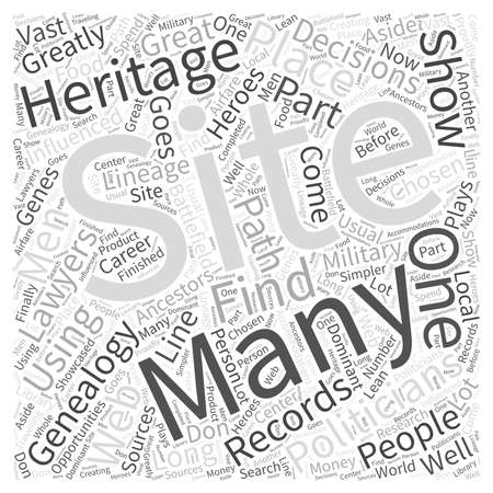 genealogy web site Word Cloud Concept