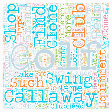 Golf Equipment Is Your Equipment Compatible With Your Game text background wordcloud concept