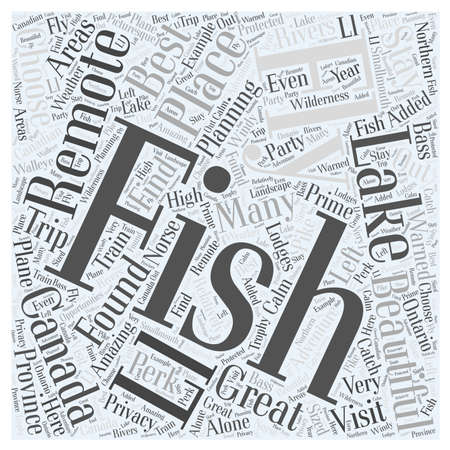 fishing area: Fly Fishing around Canada Word Cloud Concept Illustration