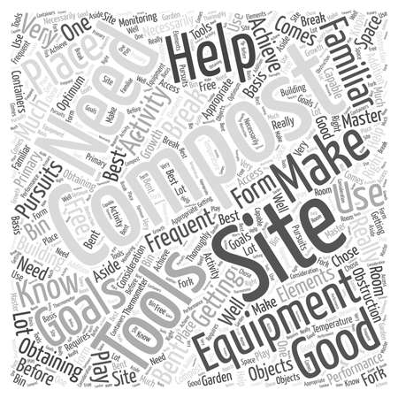 Getting to Know Your Composting Equipment Word Cloud Concept Illustration