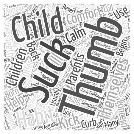 Help your Child Kick the Thumbsucking Habit Word Cloud Concept