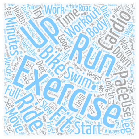 Health and Fitness Essentials The Cardio vascular Workout text background wordcloud concept Illustration