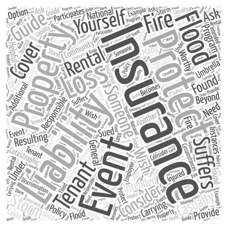 Guide to Protecting Youself and your Rental Property Word Cloud Concept