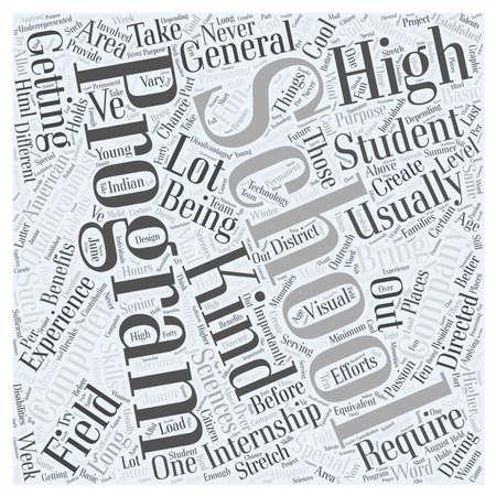 internships: High School Internships For Computer Sciences Word Cloud Concept
