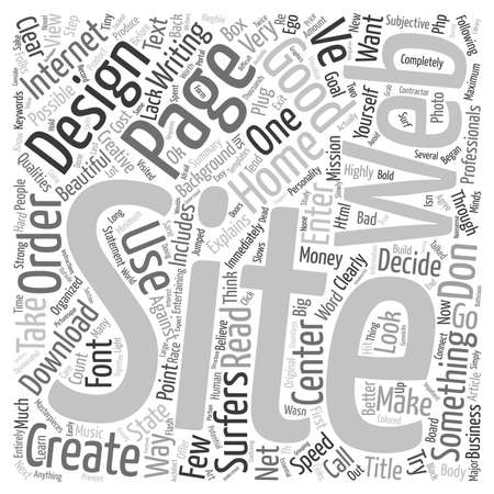 web site: Good Web Site Design text background wordcloud concept