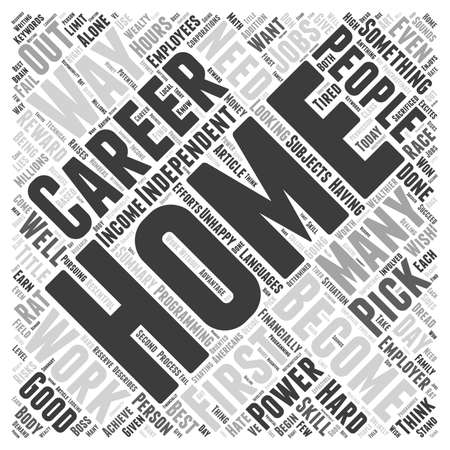financially: Home Careers Word Cloud Concept