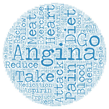 Home Based Remedy For Angina text background wordcloud concept Ilustração