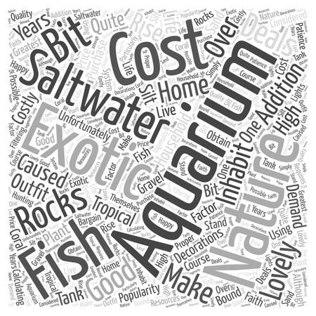 Good Deals On a Saltwater Aquarium Word Cloud Concept