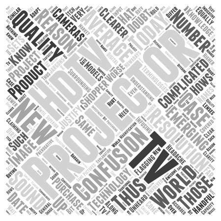 hdtv: hdtv projector Word Cloud Concept