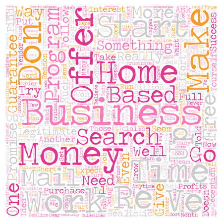 Home Business How to Find One That Works text background wordcloud concept Ilustrace