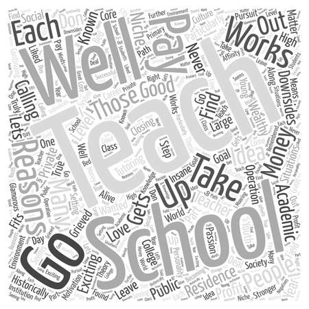 Good Reasons to Teach Word Cloud Concept Ilustrace