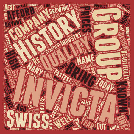 timepieces: History of Invicta Watch text background wordcloud concept