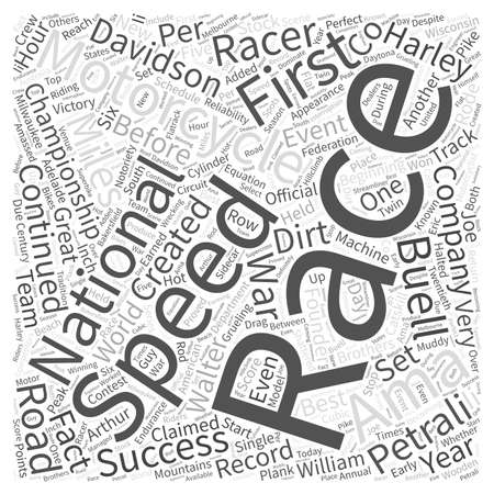 H D Racing Word Cloud Concept Stock Vector - 73467883