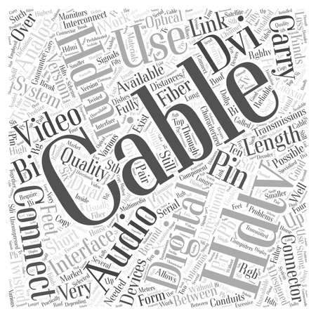 hdtv: Hdtv cables Word Cloud Concept
