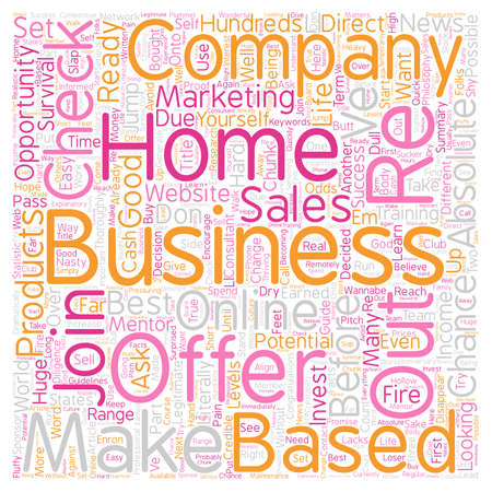 Home Based Business Wannabe s Survival Guide Part 1 text background wordcloud concept