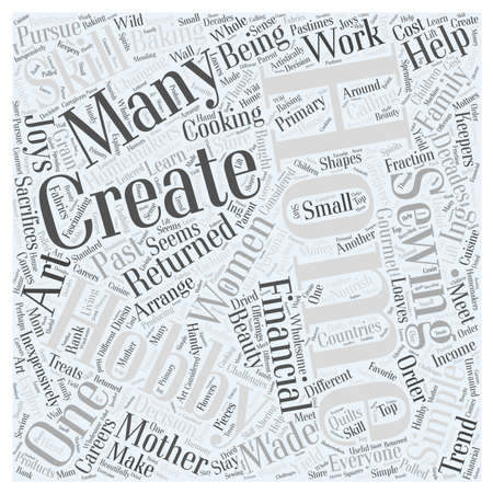 joys: home and hobby Word Cloud Concept Illustration