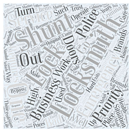 High Priority for Locksmiths Word Cloud Concept Illustration