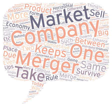 Guide to mergers text background wordcloud concept