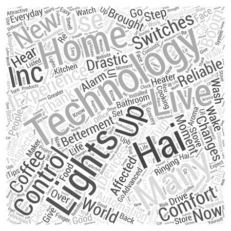 Home automation by off Word Cloud Concept