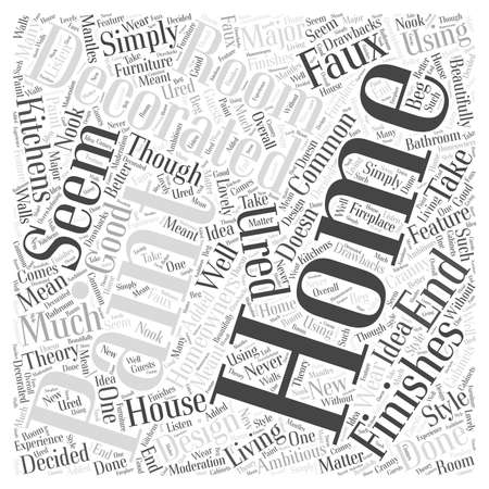 Home Decorating with Textured Paint Word Cloud Concept Illustration