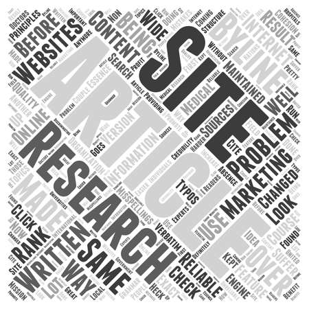 article marketing: How article marketing has changed online research Word Cloud Concept