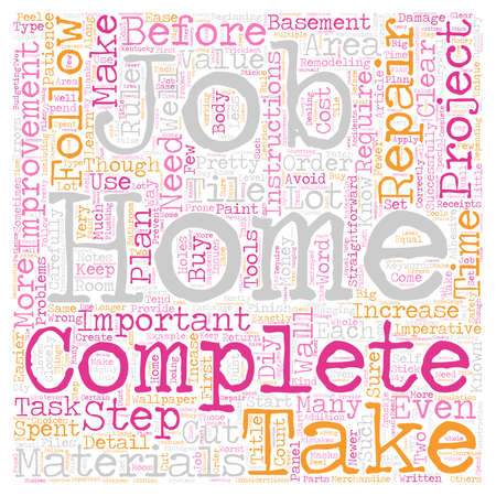 Home Improvement Rules to Follow text background wordcloud concept Illustration