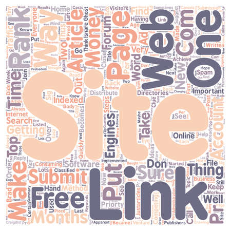 indexed: How I Got My Web Site To PR In Months text background wordcloud concept