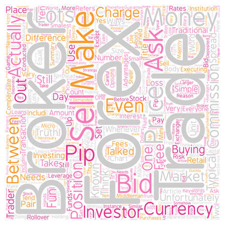 executing: How Do Forex Brokers Make Money text background wordcloud concept